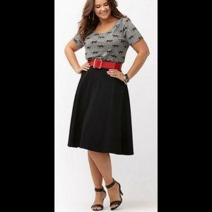 Lane Bryant High Waist Skirt w/ POCKETS!!